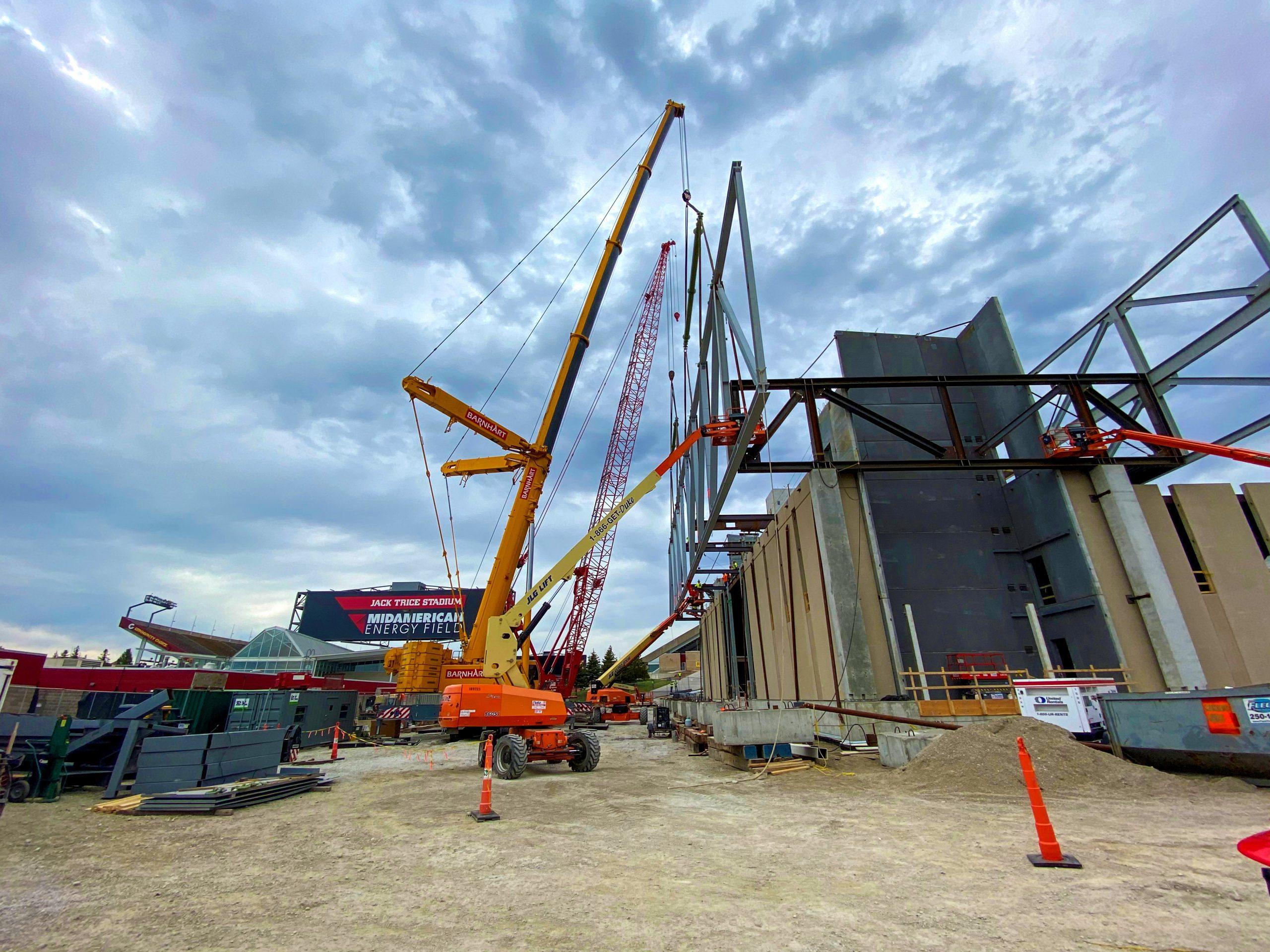 ISU Sports Performance Center: Crane Lift