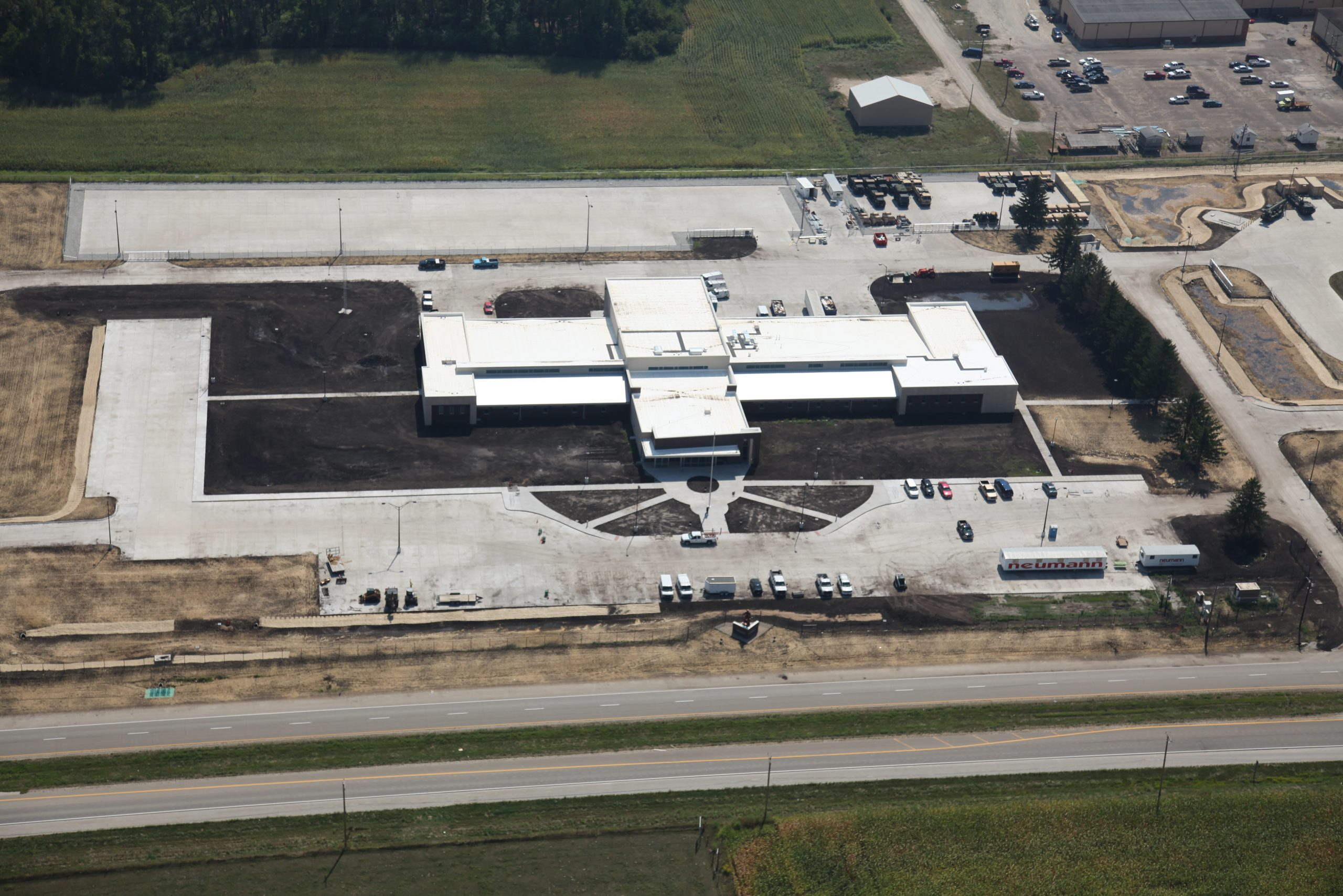 Aerial view of the Iowa Army National Guard campus in Middletown, Iowa