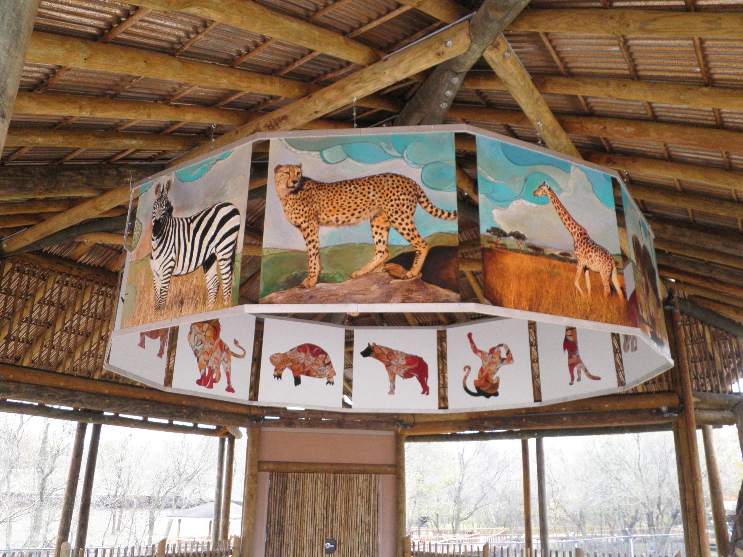 JAAMA KWA Africa Exhibit interior animal panels