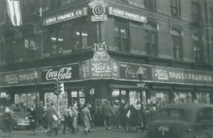 Black and White Photo of Katz Drug Store that is now the Edna Griffin Building