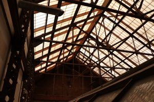 Webster County Courthouse Interior Skylight with exposed beams